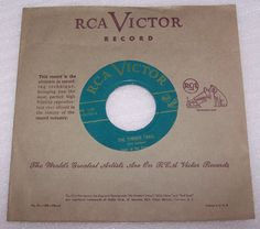 Sons Of The Pioneers Green Vinyl 45 Record Trees b/w The Timber Trail RCA  #CowboyCountryEarlyCountry