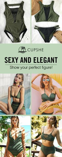 Timeless elegant~ Everyone needs at least one great green swimsuit. Green mesh splicing super glamorous! Pack for your next beach leave! FREE shipping~