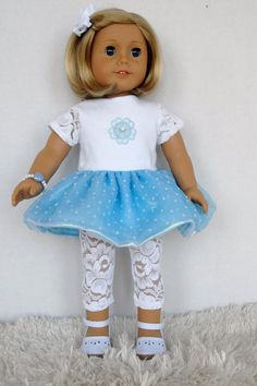 American Girl 18 inch Doll Clothes Sky Blue by TwirlyDollDesign