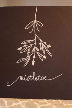 Winter/Christmas Chalkboard sign by Sweetpeasparty on Etsy, $16.00. mistletoe.
