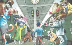 Cartão Postal Alfred Mainzer # 4945-O Passeio De Trem in Colecionáveis, Cartões postais, Animais | eBay
