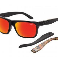 gafa de sol Arnette AN4176 Dropout 22306Q negro lente rojo multilayer