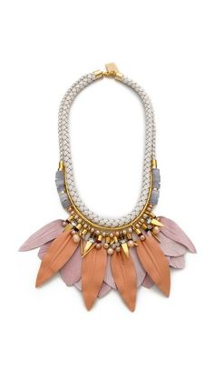 Lizzie Fortunato Sunburnt Daydreams Necklace There is something about that leaf/feather shape that I really like