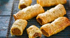 Homemade Sausage Rolls - A tablespoon of mild curry paste is the secret to these classic sausage rolls being just a bit more special. Beef Recipes, Dog Food Recipes, Cooking Recipes, Pastry Recipes, Sausage Recipes, Savoury Recipes, Recipies, Best Sausage Roll Recipe, Snacks Recipes