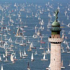 Sailboats in Barcelona, Spain