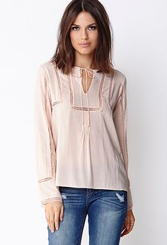 Growing out my hair like this Boho Sweet Peasant Top | FOREVER21