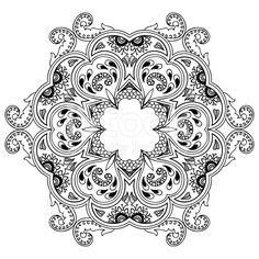 Vector henna tatoo mandala. Mehndi style. royalty-free stock vector art