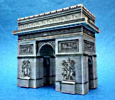 Offered by Paper Structure, Japanese website , this is a miniature paper model of the Arc of Triumph  in France . The model occupies  only...