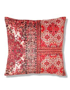 Floral & Tile Print Cushion | M&S