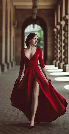 long prom dresses - Red Prom Dress,Split Prom Dress,Fashion Prom Dress,Sexy Party Dress,Custom Made Evening Dress Split Prom Dresses, Sexy Dresses, Beautiful Dresses, Fashion Dresses, Elegant Dresses, Sexy Party Dress, Dress Up, Red Dress Prom, Red Dress Outfit