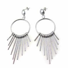 Art Deco Style Dangle Stud Earrings in Stainless Steel