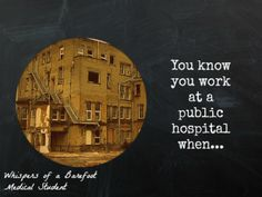Blog post: Signs you work at a South African Public Hospital