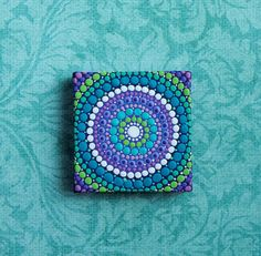 Mini mandala painting Dot Mandala minature art by ElspethMcLean