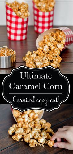 My ultimate caramel corn recipe is exactly what you need to put your family game or movie night over the top! Best Popcorn, Homemade Popcorn, Snacks To Make, Healthy Snacks, Easy Snacks, Carnival Food, Carnival Recipe, Backyard Carnival, Diy Carnival