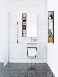 A monochrome bathroom is not hard to attain. It may give the room a luxury bathroom texture. Black and white bathroom does not have to be traditional. A black and white bathroom is a contemporary and classic style option, however… Continue Reading → Laundry In Bathroom, White Bathroom, Modern Bathroom, Small Bathroom, Master Bathroom, Washroom, Minimal Bathroom, Master Baths, Diy Bathroom Decor