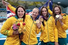 Photo #2 - July 29 - Australia - Swimming 200x300 Relay team lands stunning gold  RICHARD HINDS 8:32am Spirit of co-operation played a part in Australia's first gold medal of these