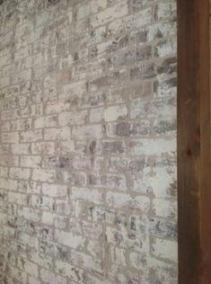 How to paint bricks with Old White Chalk Paint® from Mary Anne Merfeld, Visit BrushStrokes By Mary Anne, Cumming, GA. Painted Brick Walls, Painted Brick Fireplaces, Faux Brick Walls, Brick Paneling, Paint Fireplace, Small Fireplace, White Wash Fireplace Brick, White Wash Brick Exterior, Faux Brick Wall Panels