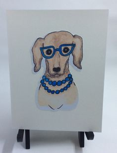 A personal favorite from my Etsy shop https://www.etsy.com/listing/510235779/hipster-dog-card