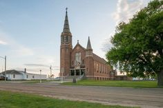 This is Hague's St. Mary's Catholic Church, rebuilt in 1929 after a fire destroyed the original church. What stands today is absolutely breathtaking inside and out.
