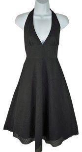 J.Crew short dress Black Halter Textured on Tradesy