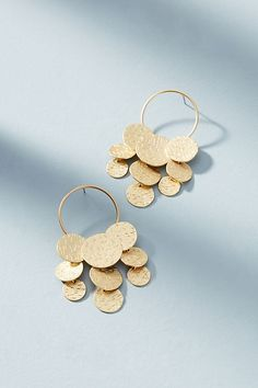 Slide View: 1: Coin Cascade Earrings
