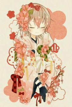 Midare chan was in that mood again, this is what happened, mama. Kawaii Chibi, Cute Chibi, Anime Chibi, Anime Art, Hand Drawing Reference, Chibi Food, Manga Boy, Japan Art, Boy Art
