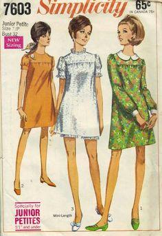 Jr. Petite Pattern 1960's