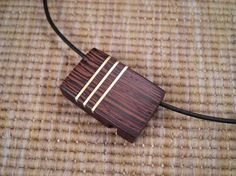 Wenge Wood Locket with Brass Accents by WoodwormCreations on Etsy