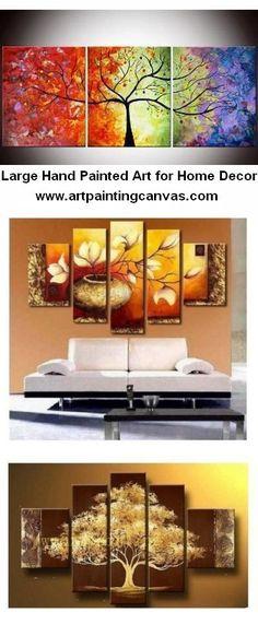 2018 的 Abstract Art, 3 Piece Canvas Art, Tree of Life Painting