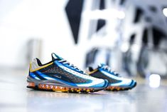 wholesale dealer e4749 d54ec Nike Air Max Deluxe   Photo Blue Wolf Grey Orange   Mens Trainers  AJ7831- 401