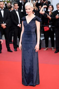 Michelle Williams in Louis Vuitton on the 2017 Cannes Film Festival red carpet