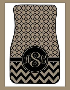 Car Mats Monogrammed Gift Personalized Monogrammed by ChicMonogram, $75.00