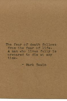 Mark Twain Quote Made on Typewriter Home by FlightOfFancyPrints