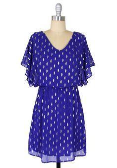 Crescent Moon Dress: Cobalt