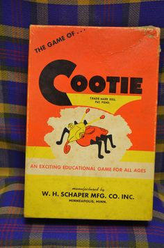 Vintage 1949 COOTIE Build a Bug Antique Board Game Complete NICE, W.H. Schaper #Schaper