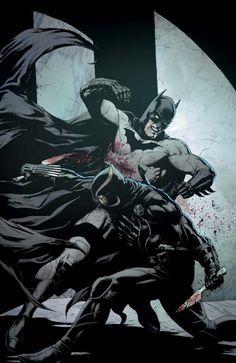 Trapped far beneath Gotham City and hunted by the Talon - the Court of Owls' unstoppable killer - Batman lies bleeding and broken. Batman Vs, Batman Poster, Batman Artwork, Batman The Dark Knight, Batman Fight, Batman Superhero, Gotham Batman, Batman Robin, New 52
