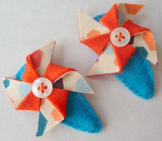 Vintage Inspired Wool Felt Girls Barrette Hair by myplaygroundlove, $8.00
