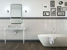 Marazzi Tile, Oxford. White Subway, modern, contemporary.