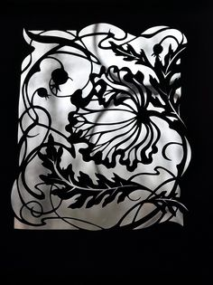 My new series of paper cuts would like to devote to the Art Nouveau movement.
