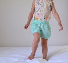 Bubble Shorts, Toddler size 3, Mint, ready-to-ship