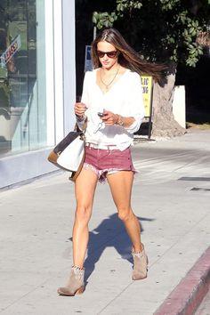 Alessandra Ambrosio Loose Blouse - Alessandra Ambrosio Looks - StyleBistro
