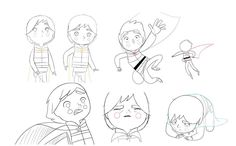 Song of the Sea model sheets (GKIDS/Cartoon Saloon, 2014). 2d Traditional animation