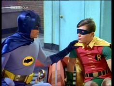 Batman 1960. I watched this all the time when I was in high school. I was one of the few teens who saw the old batman episodes.