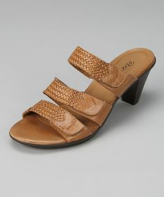 This Tan Braid Sparkle Leather Sandal is perfect! #zulilyfinds