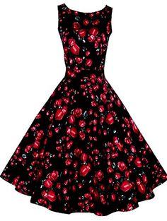 DREAGAL 50s Hepburn Style Vintage Sleeveless Floral Swing Dress DREAGAL http://www.amazon.com/dp/B013I1917K/ref=cm_sw_r_pi_dp_-2Jqwb02YSKDQ