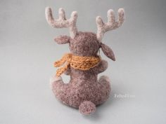 Felted toy Moose от FeltedTree на Etsy