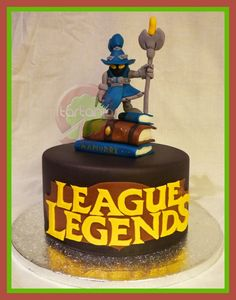 League of Legends Kuchen - Baby Party Easy Cake Decorating, Cake Decorating Techniques, League Of Legends, Specialty Cakes, Gorgeous Cakes, Cakes For Boys, Cute Cakes, Creative Cakes, Cake Creations