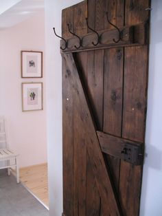 Vintage Door Into Coat Rack