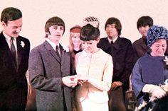 Ringo Starr and Maureen Cox wedding