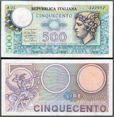 Collezione Personale di Banconote Italiane: 0.0.6. - 500 LIRE MERCURIO